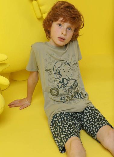 Donella Funny Safari Baskılı Erkek Çocuk Pijama Takım Yeşil